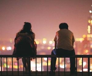 couple, lights, and street image
