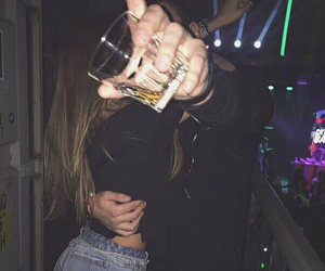 couple, party, and drink image