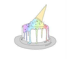 cake, colourful, and rainbow image