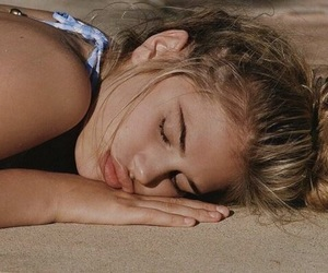beach, chill, and sleeping image