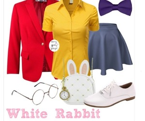 alice in wonderland, white rabbit, and plus size image