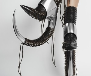 autumn, crazy fashion, and high heels image