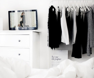 clothes, white, and room image