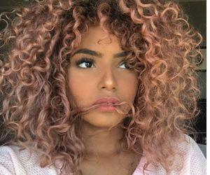color, cabello, and rizos image