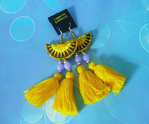 etsy, ta, and hippie earrings image