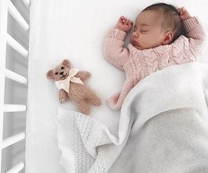 adorable, baby, and sleeping image