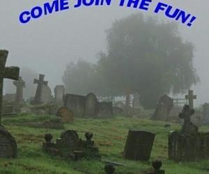 fun, cemetery, and dead image