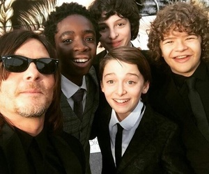 stranger things, norman reedus, and the walking dead image