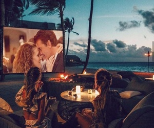 friends, movie, and beach image