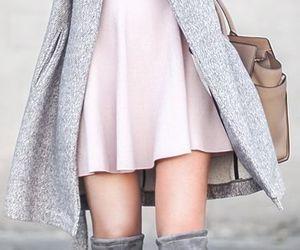 fashion, gray, and pink image