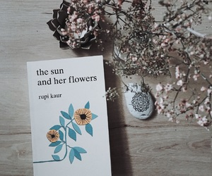 flowers, sun, and poetry image