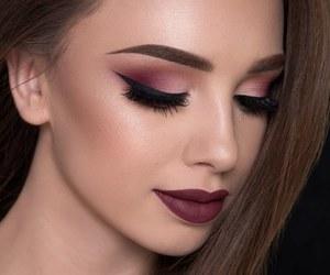 eyebrow, eyeliner, and lipstick image