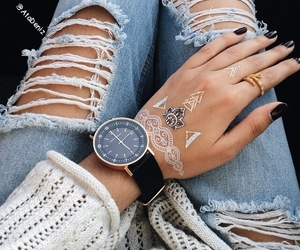 fashion, watch, and nails image