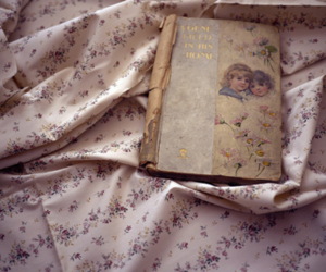 book, vintage, and floral image
