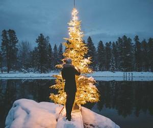christmas, girl, and nature image