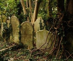 graves, headstones, and gravestones image