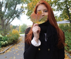 ginger, hair, and outono image