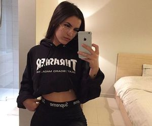 girl, thrasher, and outfit image