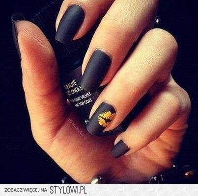 nails, black, and kiss image