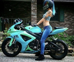 azul, biker, and blue image
