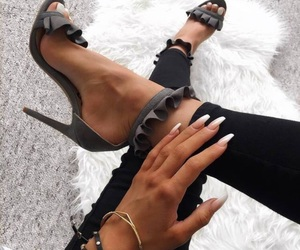 heels, nails, and instagram image