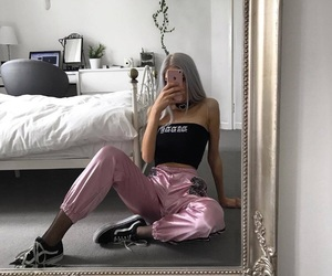 clothes, vans, and girls image