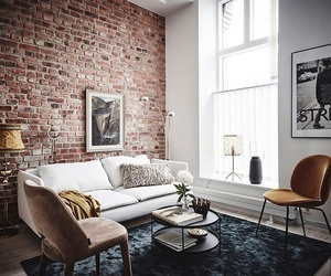 brick wall and interior image