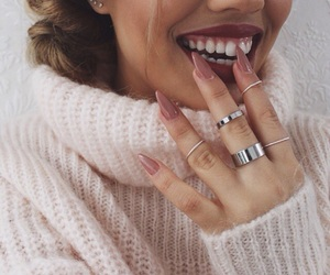 happy, lipstick, and nails image