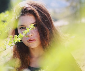 beauty, forest, and girl image