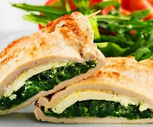 cheese, Chicken, and spinach image