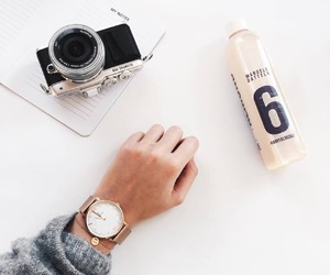 watch, camera, and style image