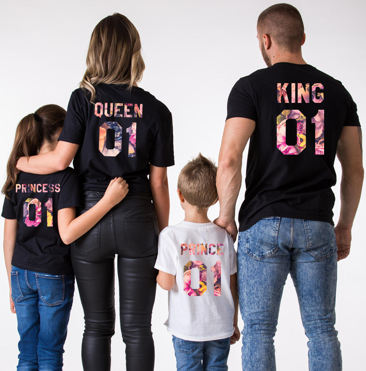 Queen 01 and Princess 01 Ensemble DE Tee Shirt et Body Marine King 01