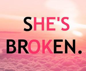 broken, pink, and ok image