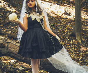 autumn, ghostly, and goth image