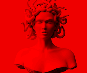 medusa, red, and wallpaper image