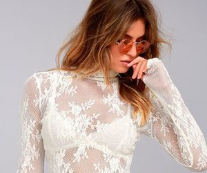 dresses, lace, and turtleneck image