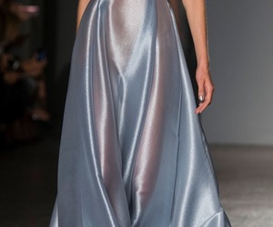 fashion, blue, and runway image
