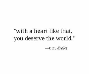 quotes, heart, and world image