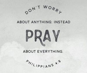 god, pray, and bible image