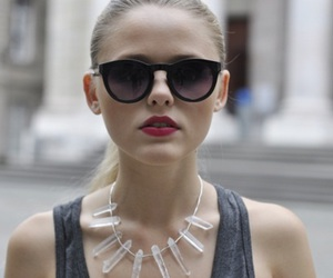 fashion, face, and glasses image