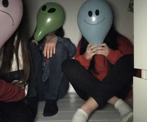 alien, balloon, and blue image
