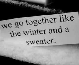 winter, love, and quotes image