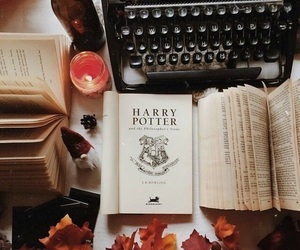 autumn, harry potter, and book image