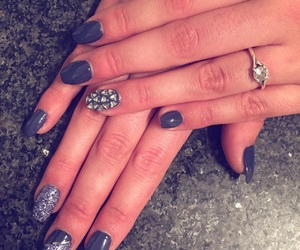 glitter, nails, and diamants image