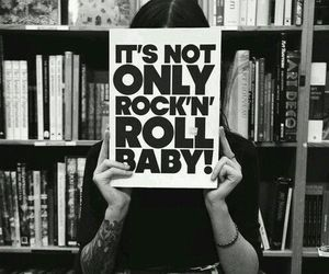 rock, rock n roll, and black and white image