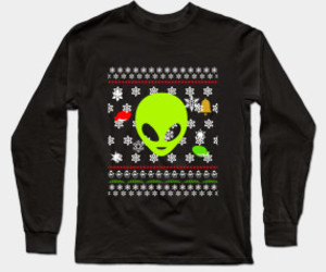 alien, christmas sweater, and ugly christmas sweater image