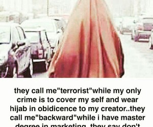 cover, hijab, and terrorist image