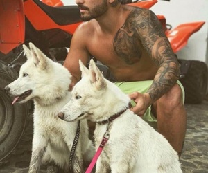 maluma, boy, and dog image