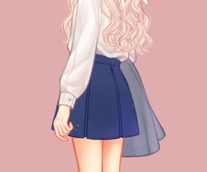 anime, fashion, and illustration girl image