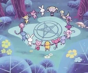 satan, bubbles, and cartoon image